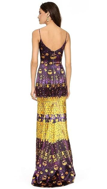 L'Wren Scott Sleeveless Multicolored Gown