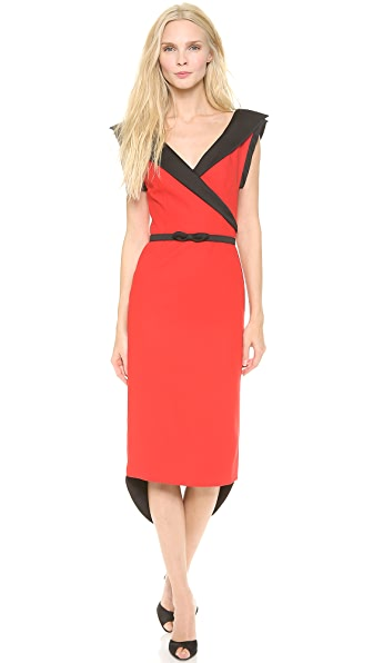 L'Wren Scott Sleeveless Sheath Dress with Belt