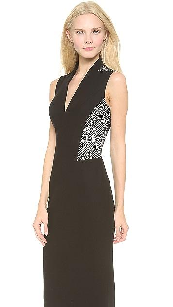 L'Wren Scott Lace Panel Sheath Dress