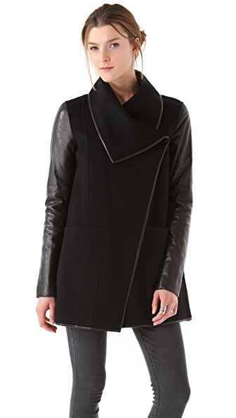 Wool Leather Coat