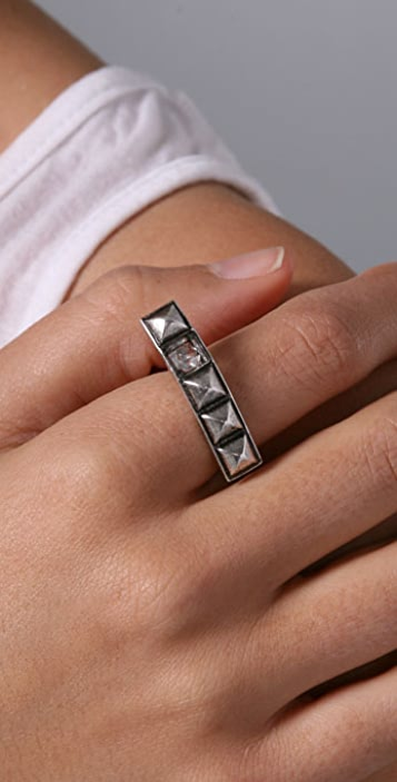 Made Her Think Knuckle Buster Ring with Pyramid Totem