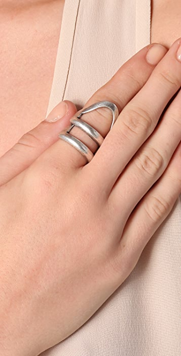 Made Her Think X-Ray Stacked Helmut Ring