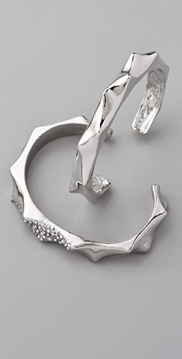 Made Her Think Metal Thorn Cuff Set