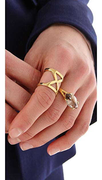 Made Her Think Serpent Marquise Ring