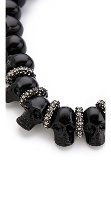 Made Her Think Candy Skull Necklace