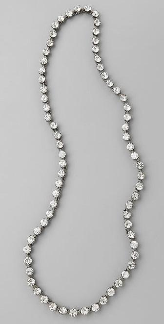 Madewell Rhinestone Opera Necklace