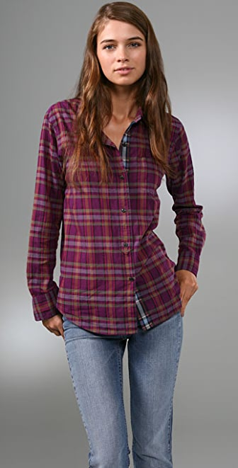 Madewell Mixed Plaid Boyfriend Shirt