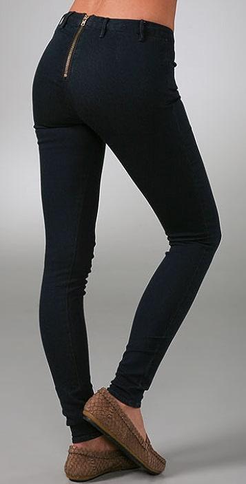 Madewell Back Zip Legging Jeans