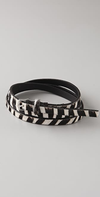 Madewell Zebra Skinny Belt