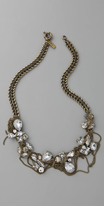 Madewell Crystals & Chain Fringe Necklace