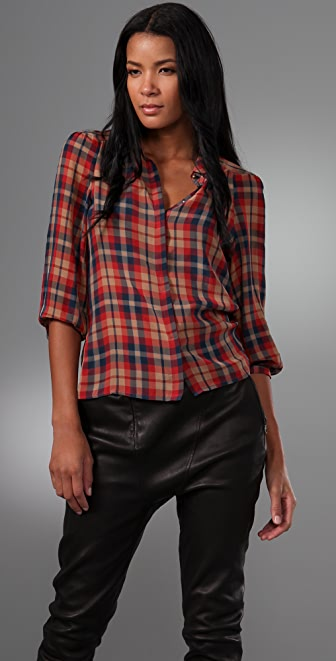 Madewell Plaid Pemberly Blouse