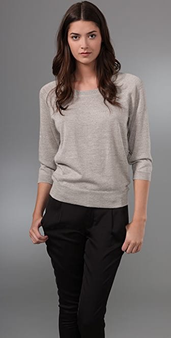 Madewell Plaited Sparkle Sweater