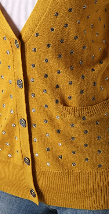 Madewell Dancing Dots Cardigan
