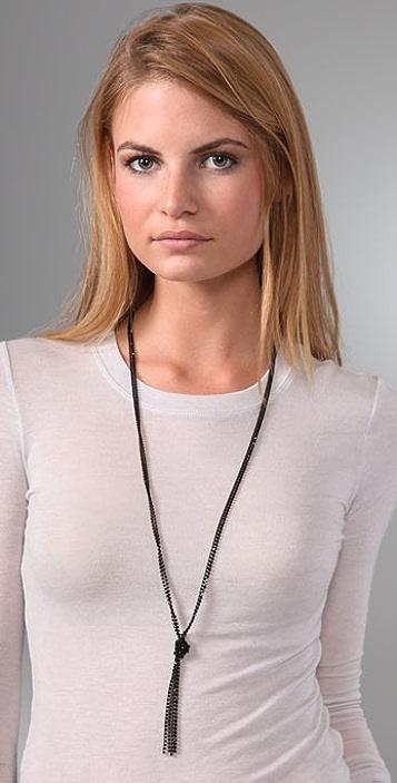Madewell Mini Rhinestone Lariat Necklace