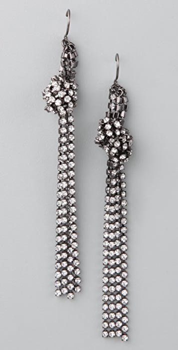 Madewell Mini Rhinestone Knot Earrings