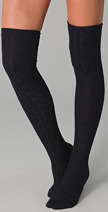 Madewell Cable Knit Over the Knee Socks