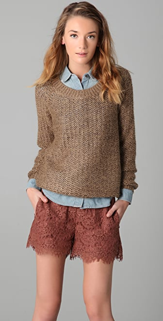 Madewell Metallic Crew Neck Sweater