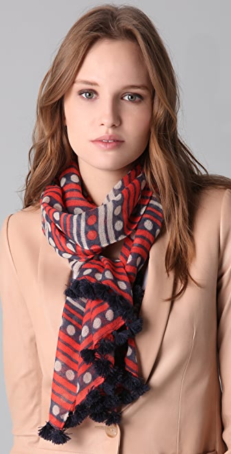 Madewell Dots and Stripes Long Scarf