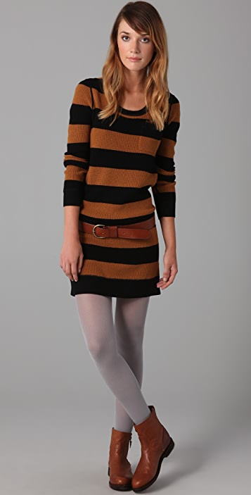 Madewell Striped Lamp Post Sweater Dress
