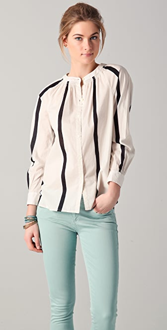 Madewell Wooster Stripe Ellie Top