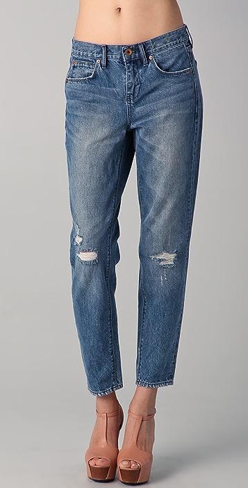 Madewell Destroyed Indigo Boy Jeans