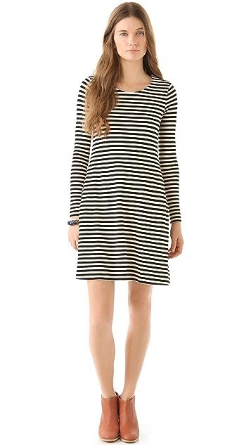 Madewell Marisa Striped Knit Dress