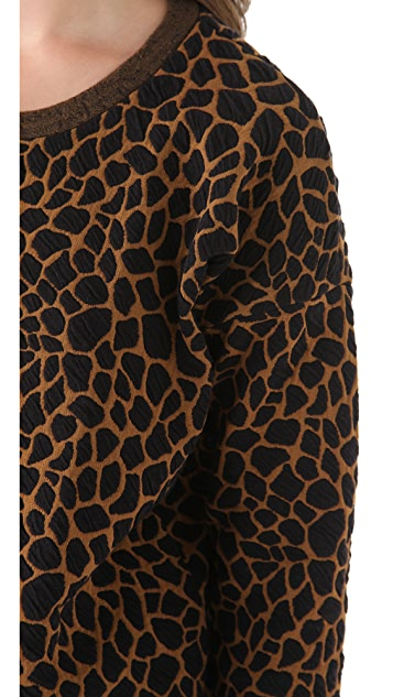 Madewell Stacey Animal Print Pullover