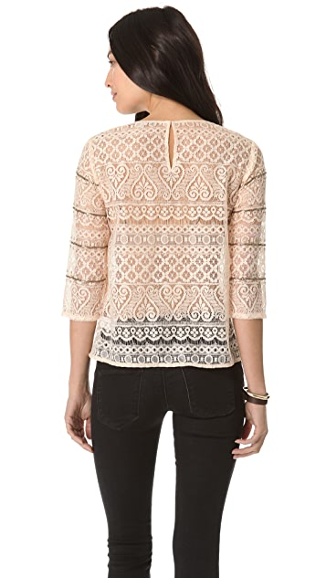 Madewell Lace Embellished Top