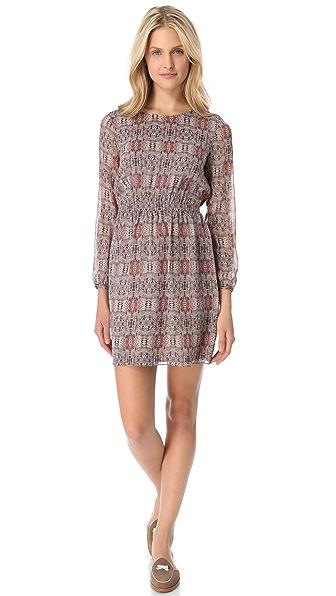 Madewell Print Silk Dress