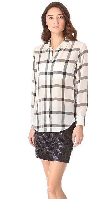 Madewell Silk Plaid Boy Shirt