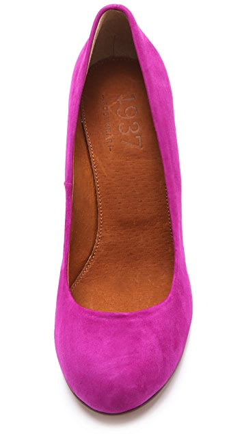 Madewell Suede Round Toe Pumps
