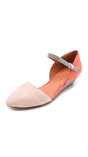 Madewell The Duet Mini Wedges in Suede
