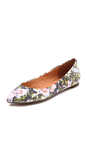 Madewell The Sidewalk Skimmer Flats in Sungarden