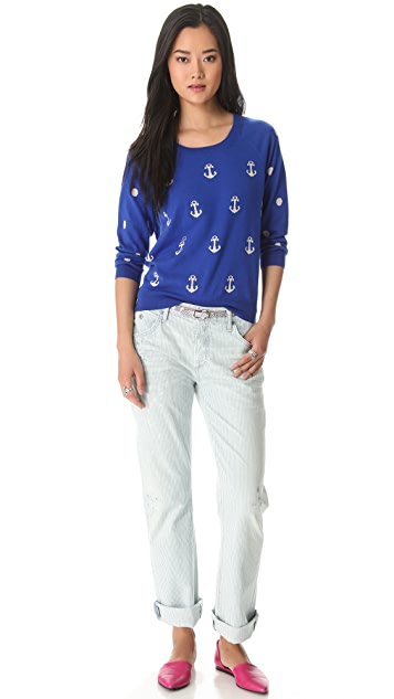 Madewell Anchors & Dots Pullover