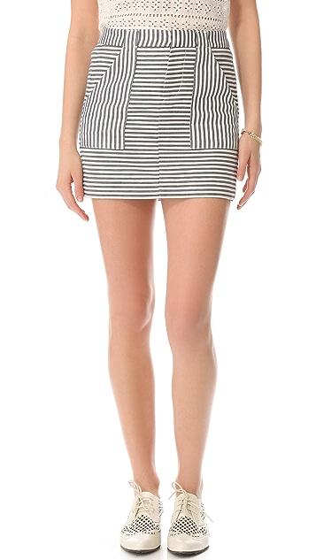 Madewell Pizete Striped Skirt