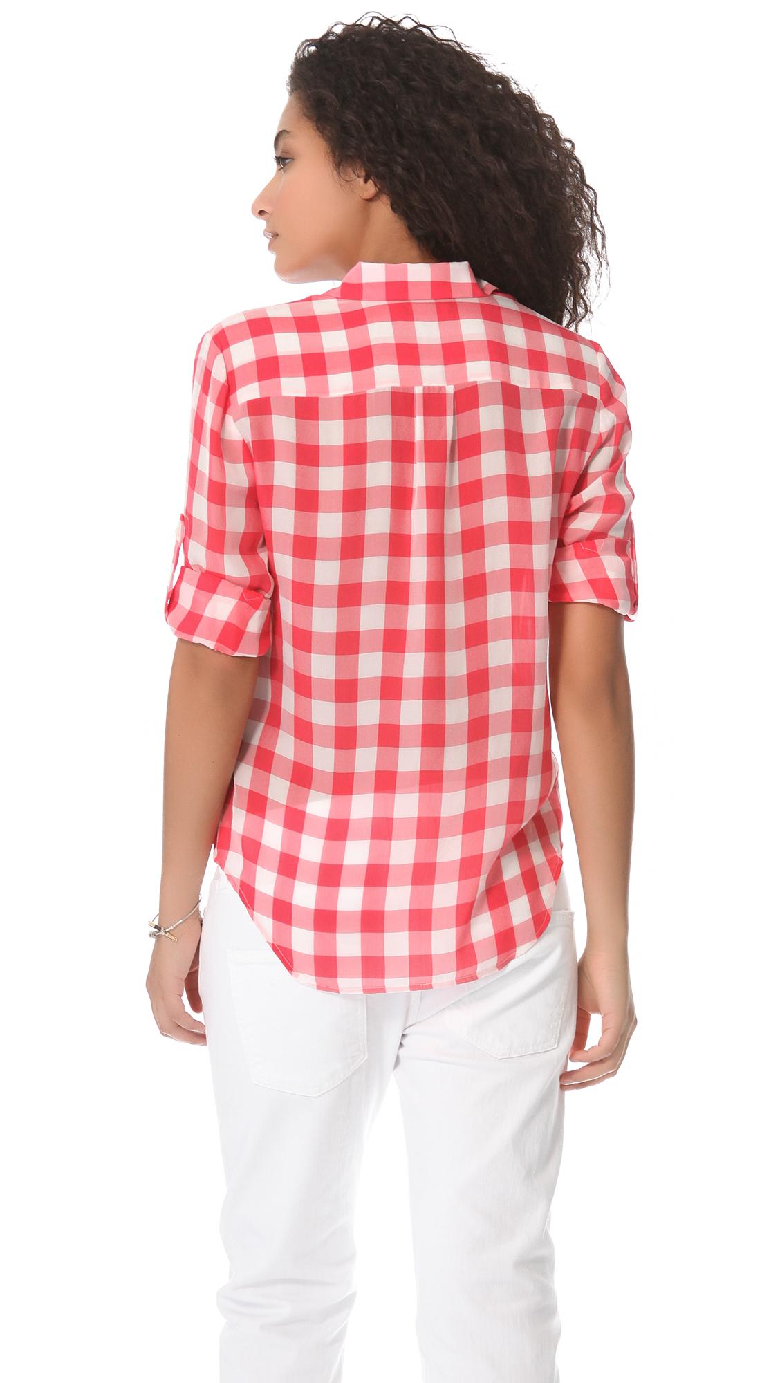 9f30e7b92dce74 Madewell Gingham Silk Boy Shirt