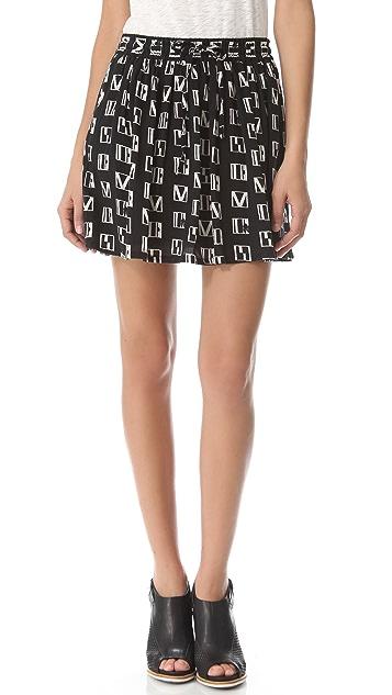 Madewell Bernadette Flare Miniskirt