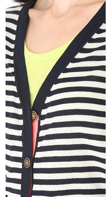 Madewell Striped Poppy Cardigan