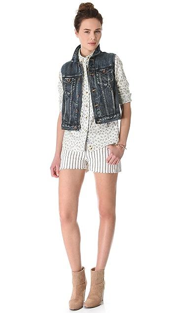 Madewell Striped Cutoff Shorts