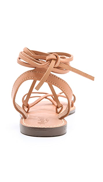 Madewell Lace Up Sandals