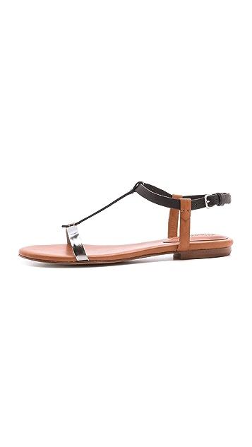 Madewell T Strap Flat Sandals