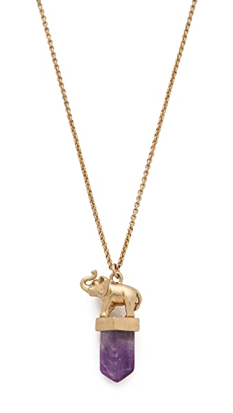 Madewell Elephant Pendant Necklace