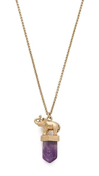 Madewell Elephant Pendant Necklace