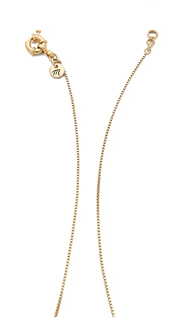 Madewell Large Chevron Necklace