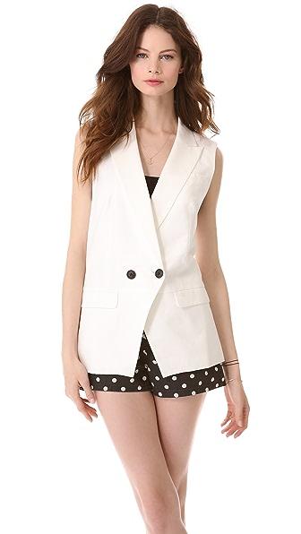 Madewell White Vest