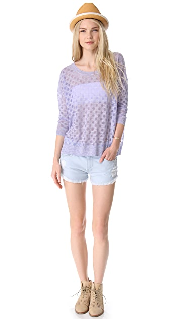 Madewell Burnout Dot Pullover