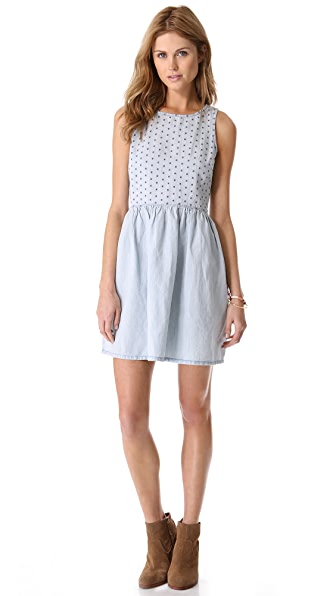 Madewell Chambray Eyelet Dress