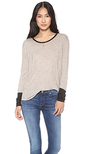Madewell Colorblock Long Sleeve Tee