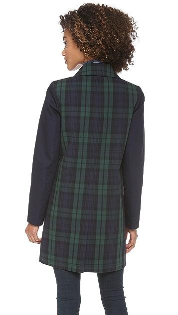 Madewell Clean Plaid Mac Coat