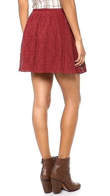 Madewell Lace Pleated Miniskirt